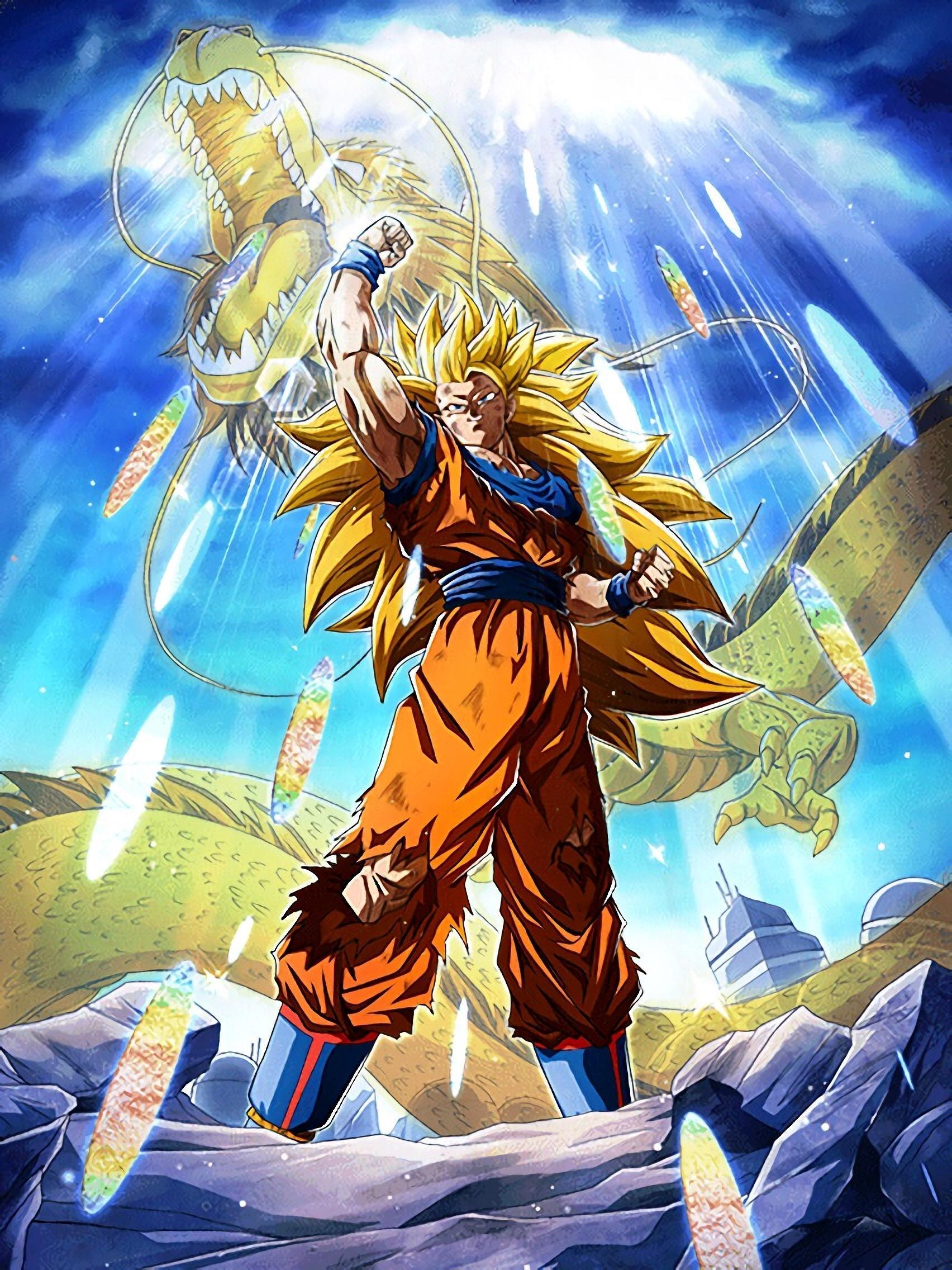 Goku Super Saiyan 3 Wallpapers Top Free Goku Super Saiyan 3 Backgrounds Wallpaperaccess