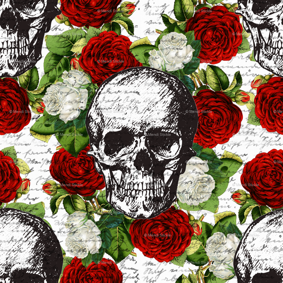 Skulls And Flowers Wallpapers Top Free Skulls And Flowers