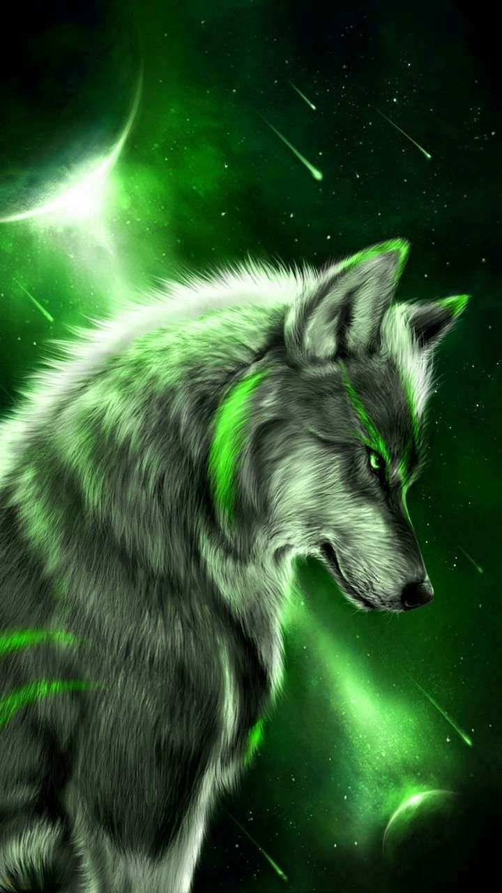 Green Wolf Wallpapers Top Free Green Wolf Backgrounds Wallpaperaccess