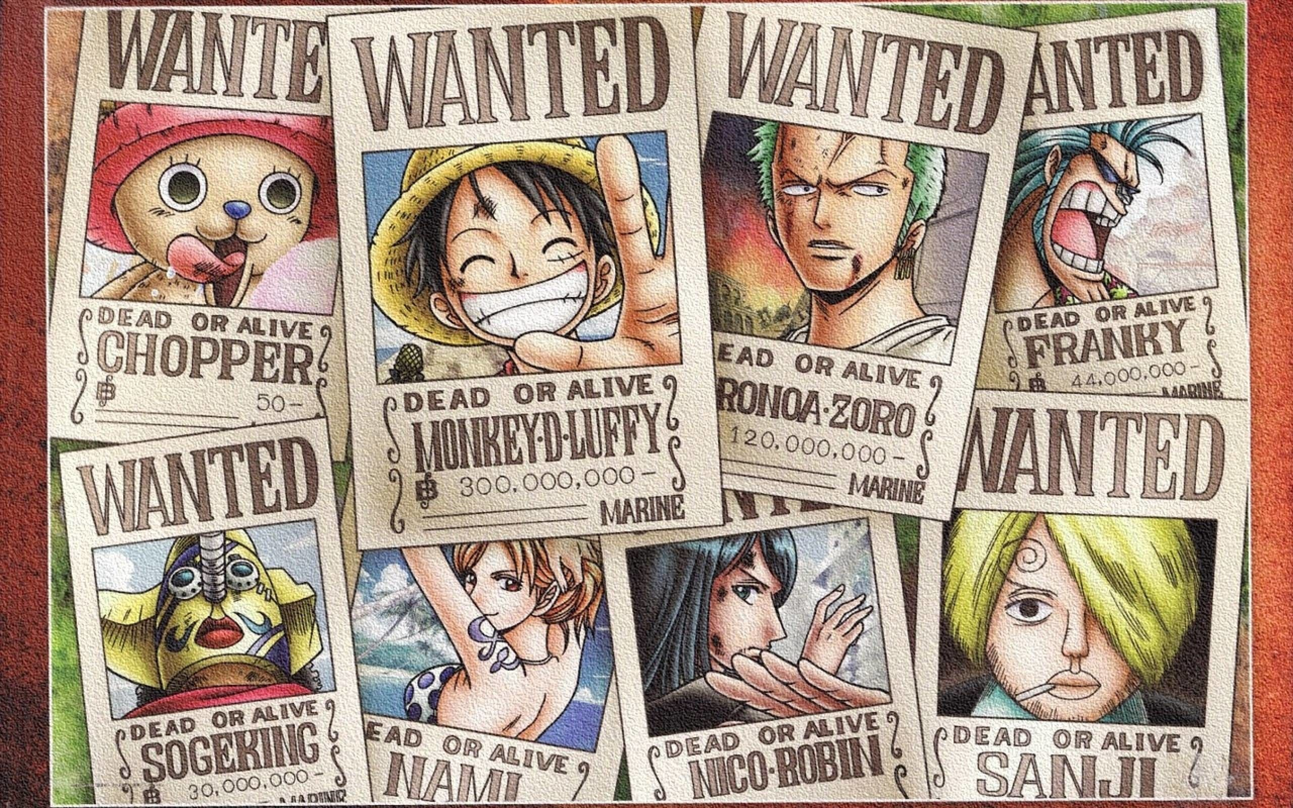 One Piece Wanted Wallpapers Top Free One Piece Wanted Backgrounds Wallpaperaccess