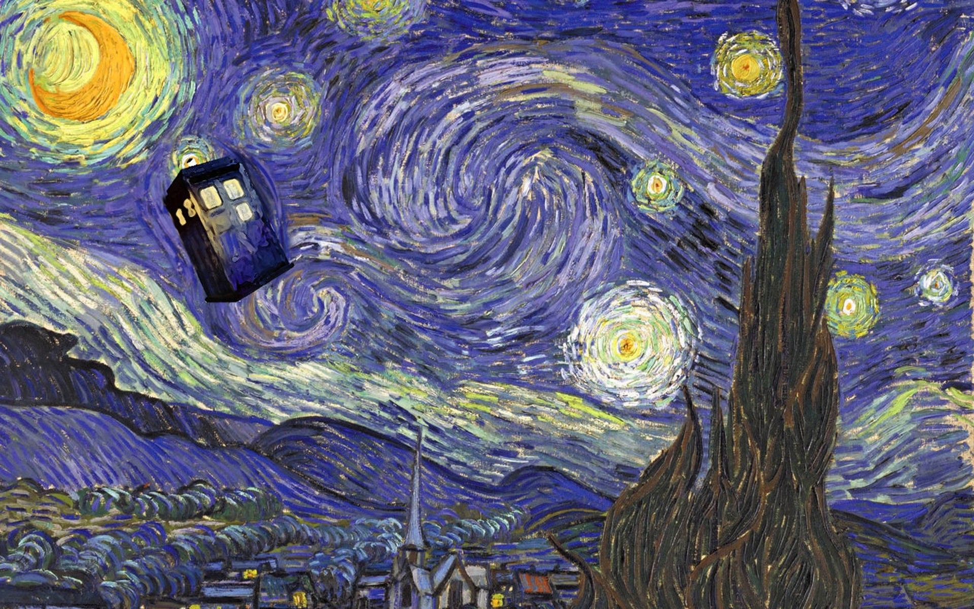 1920x1200 Doctor Who, Vincent Van Gogh, TARDIS Wallpapers HD / Desktop and .