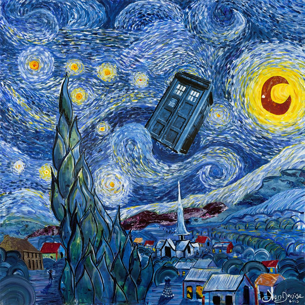 doctor who starry night wallpapers - top free doctor who starry night backgrounds