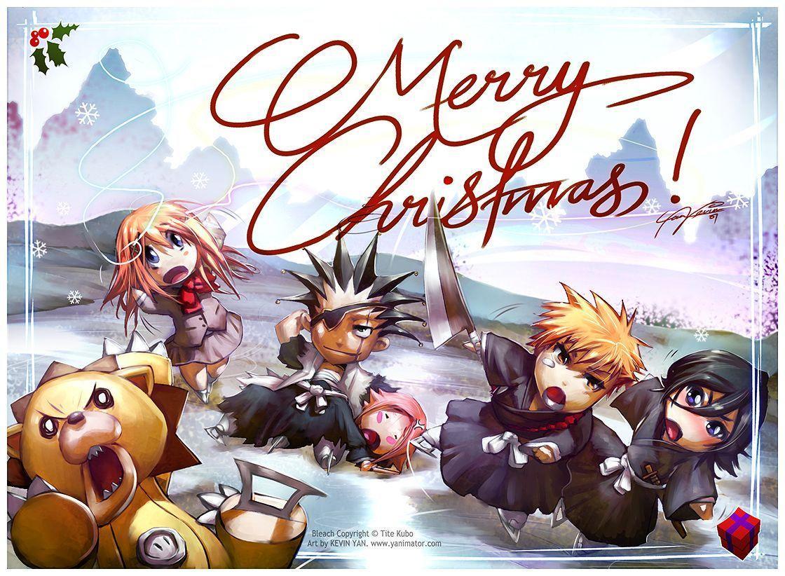 Bleach christmas wallpapers top free bleach christmas - Anime christmas wallpaper ...