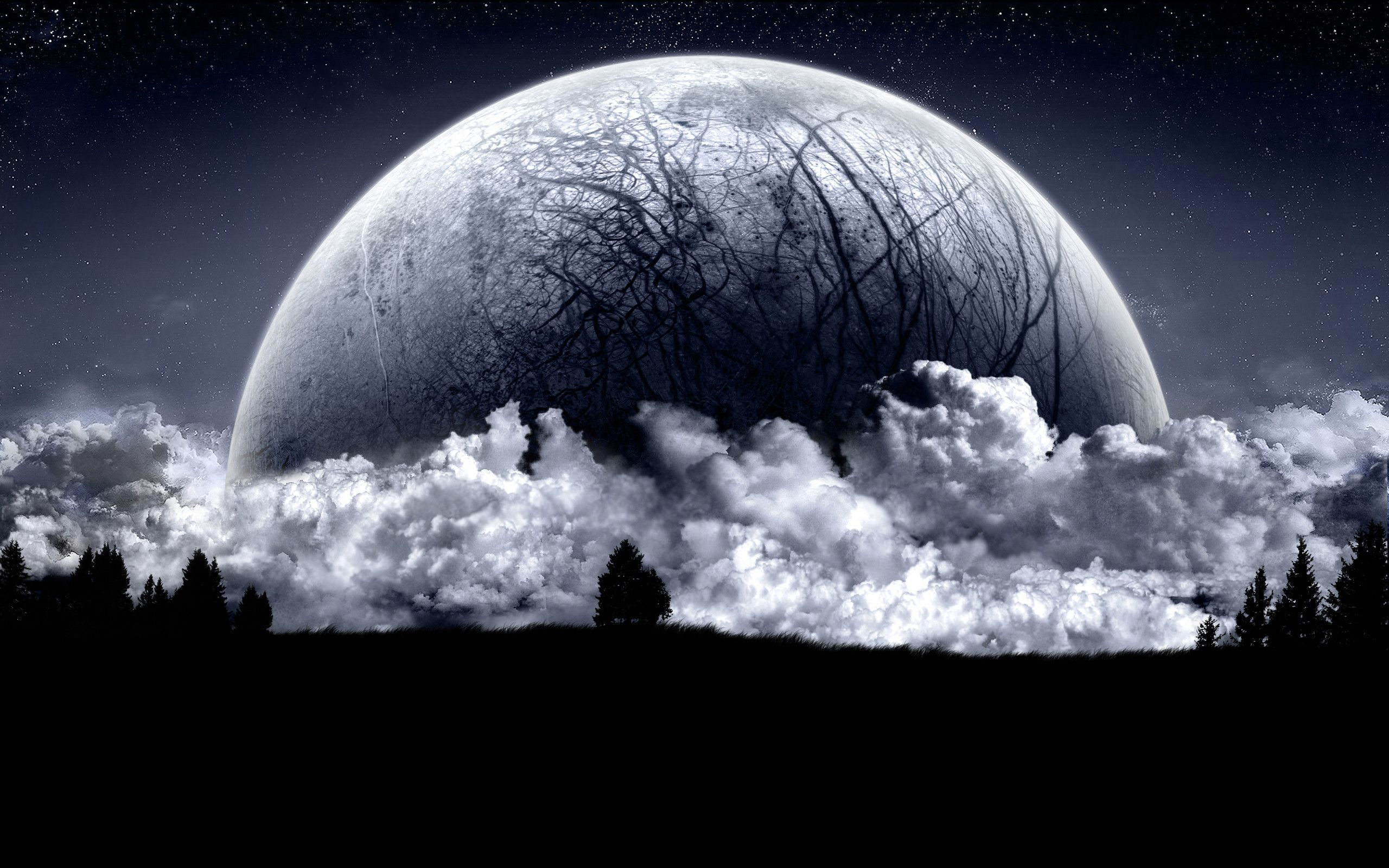 Dark Moon Wallpapers Top Free Dark Moon Backgrounds Wallpaperaccess