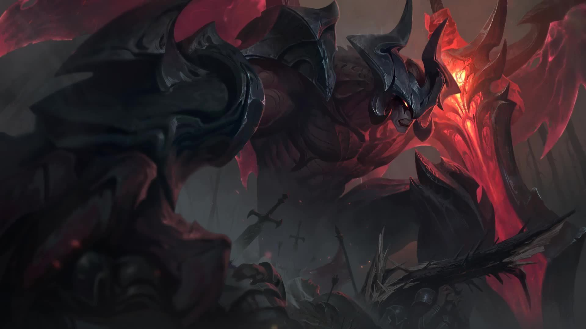 Aatrox Wallpapers Top Free Aatrox Backgrounds Wallpaperaccess