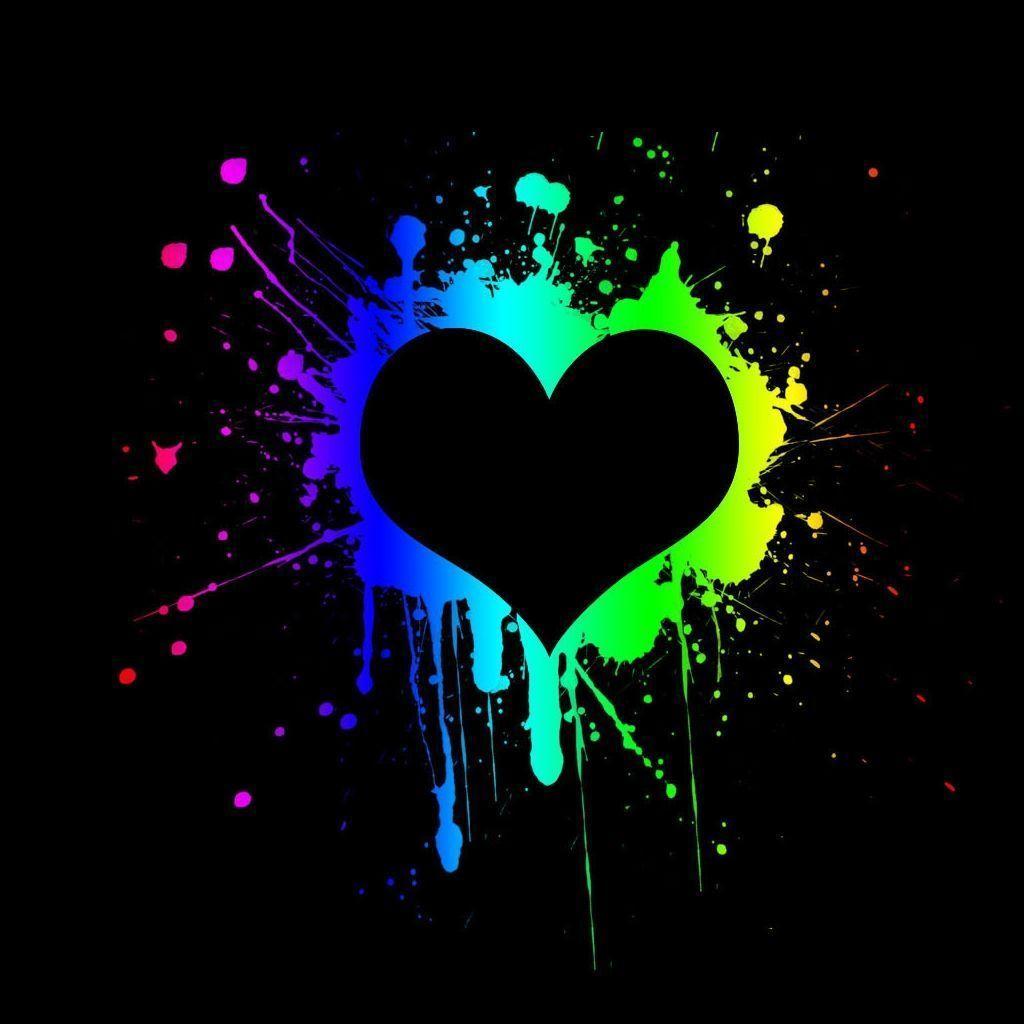 Black Heart Wallpapers Top Free Black Heart Backgrounds Wallpaperaccess