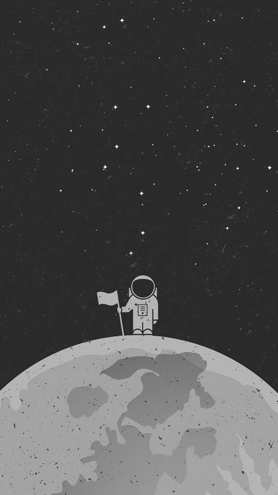 Astronaut In Space Wallpaper Cartoon