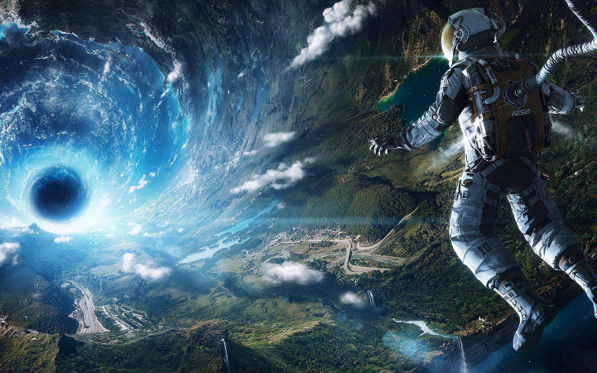 Astronaut In Space Wallpapers Top Free Astronaut In Space Backgrounds Wallpaperaccess