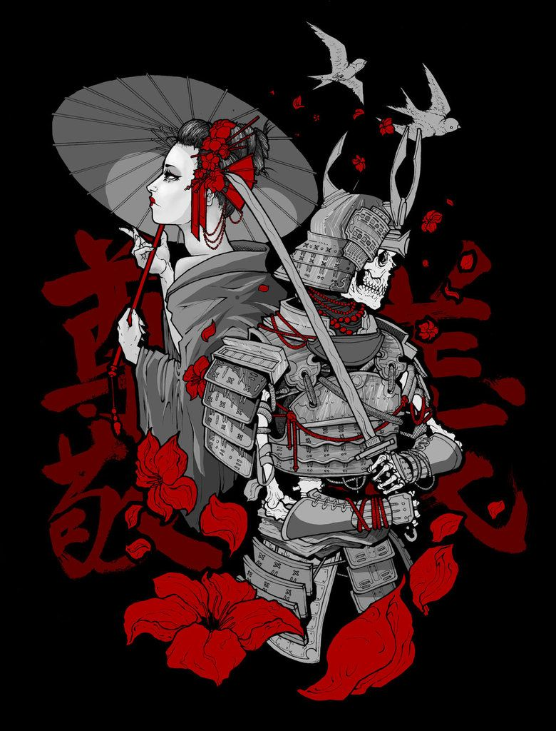 Geisha Samurai Wallpapers Top Free Geisha Samurai Backgrounds Wallpaperaccess