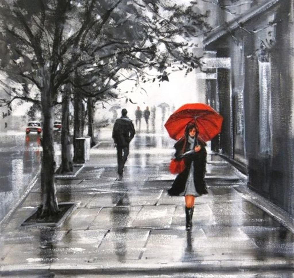 39 Best Free Painting Red Umbrella Wallpapers