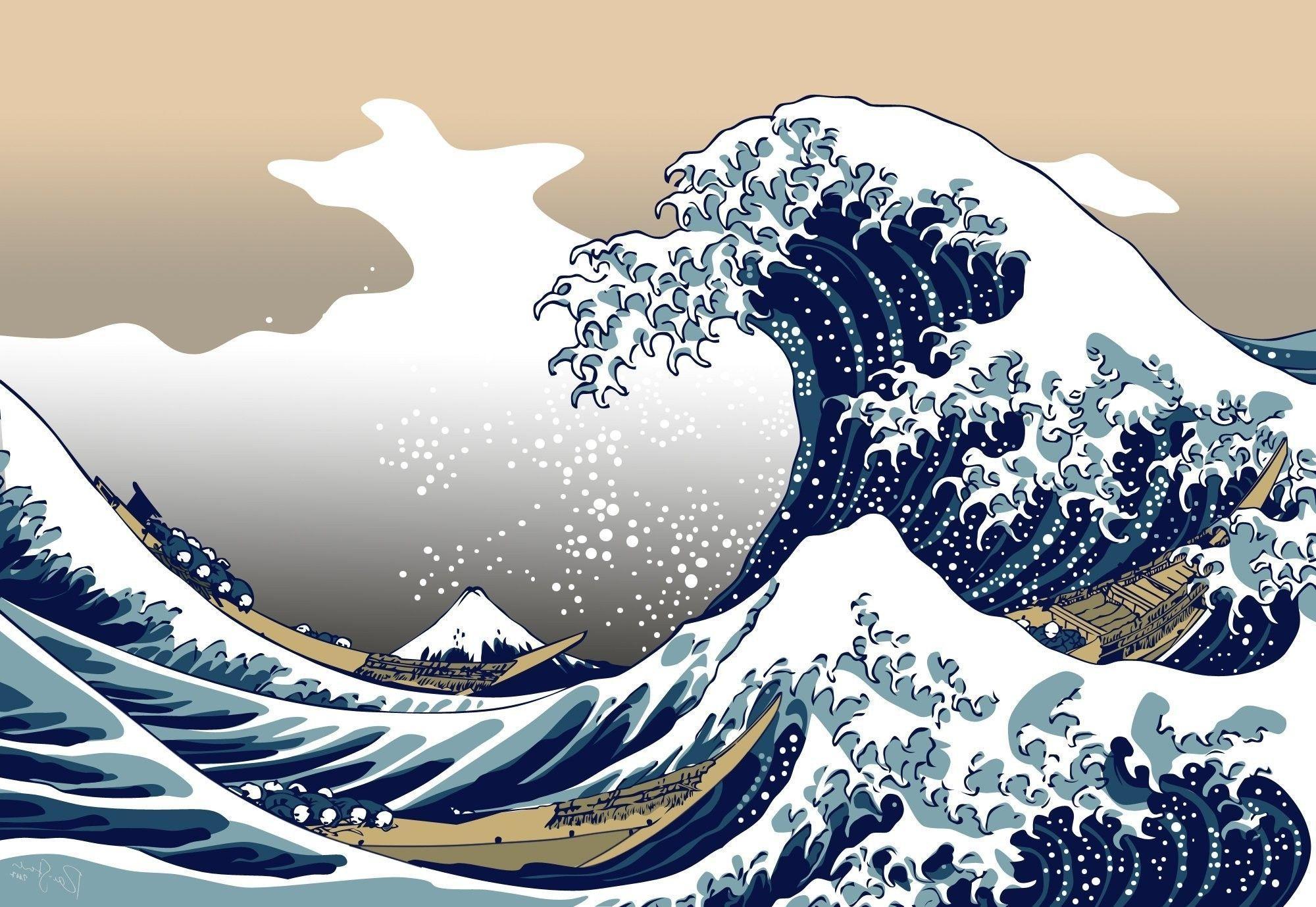 Gyarados And The Wave Of Kanagawa 1680x1050 Japanese Waves Hd