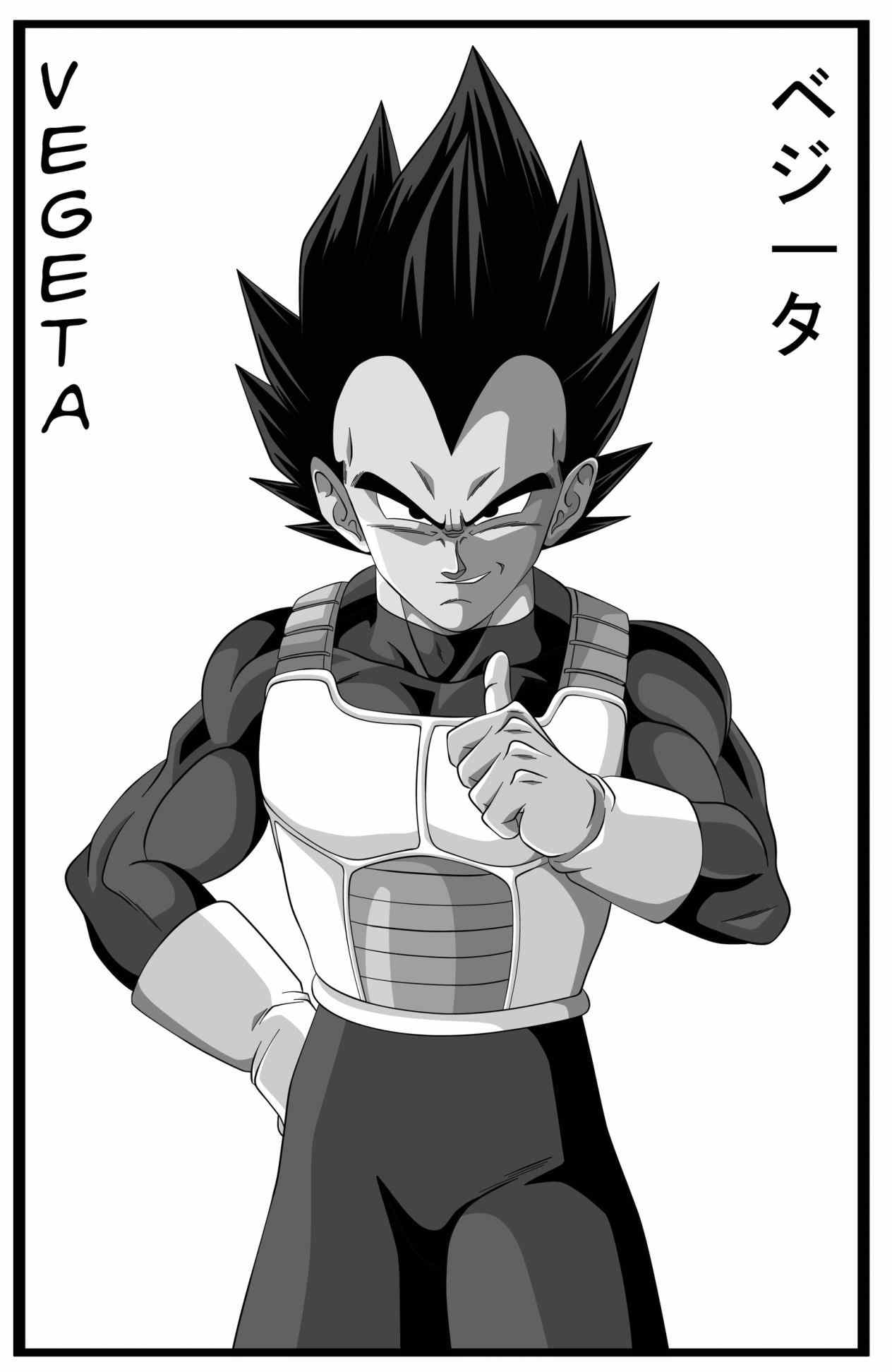 Vegeta Black And White Wallpapers Top Free Vegeta Black And White Backgrounds Wallpaperaccess