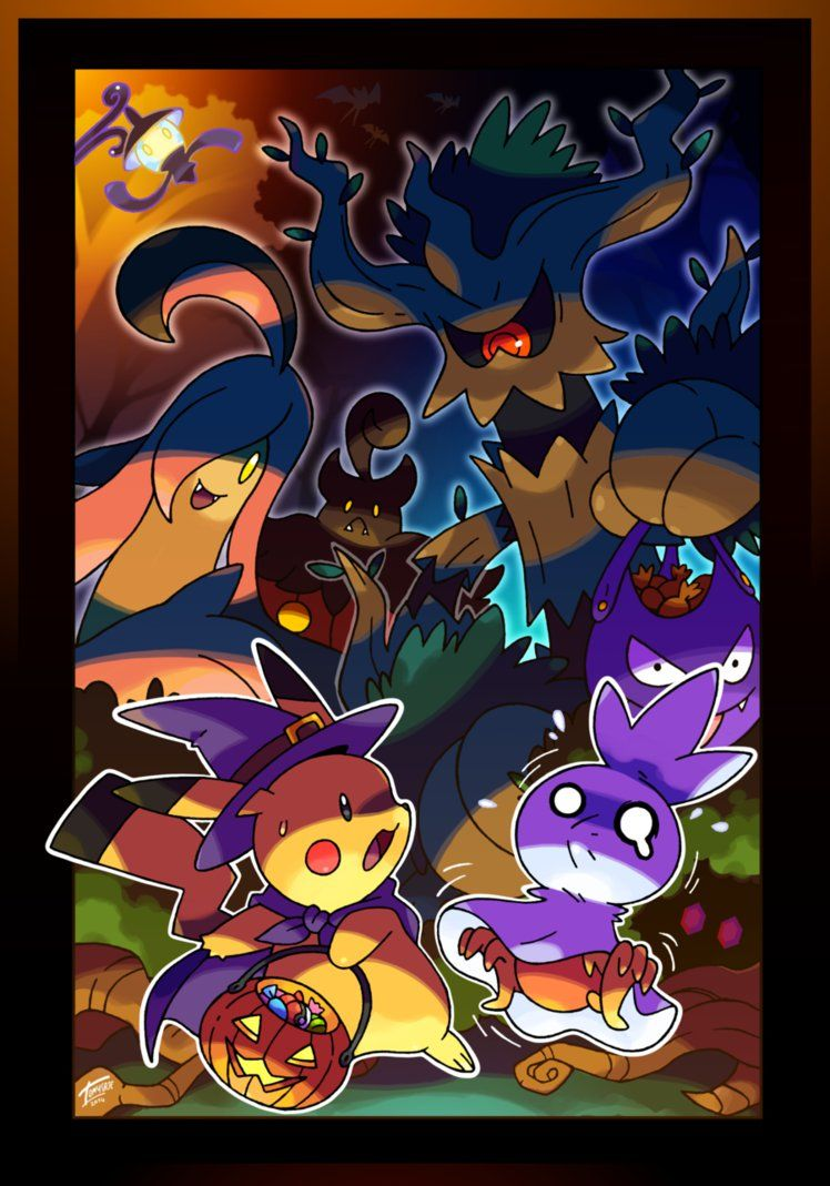 748x1069 Pokemon Halloween Wallpapers Collection