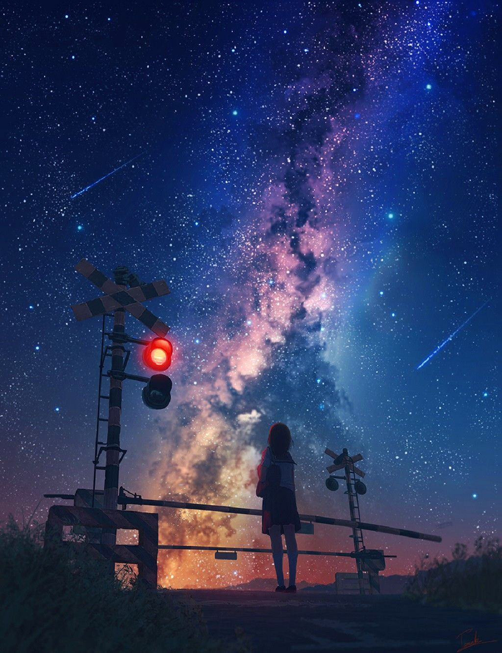 Anime Galaxy Wallpapers Top Free Anime Galaxy Backgrounds Wallpaperaccess