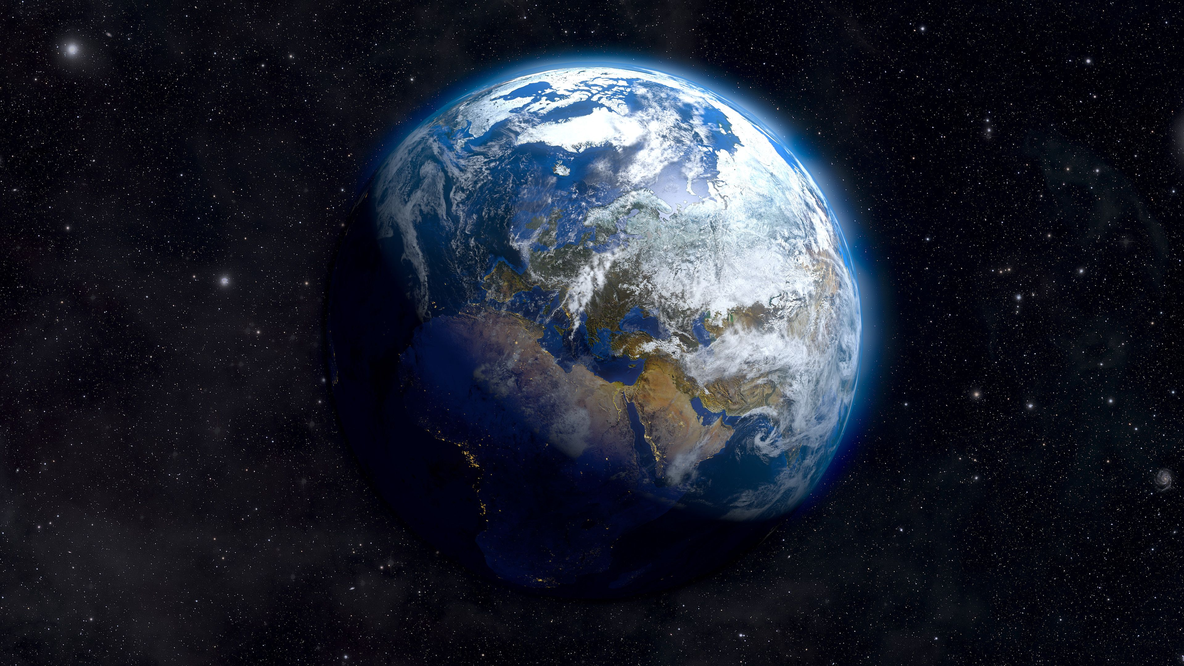 Wallpaper Earth Above Space Hd Space 6408