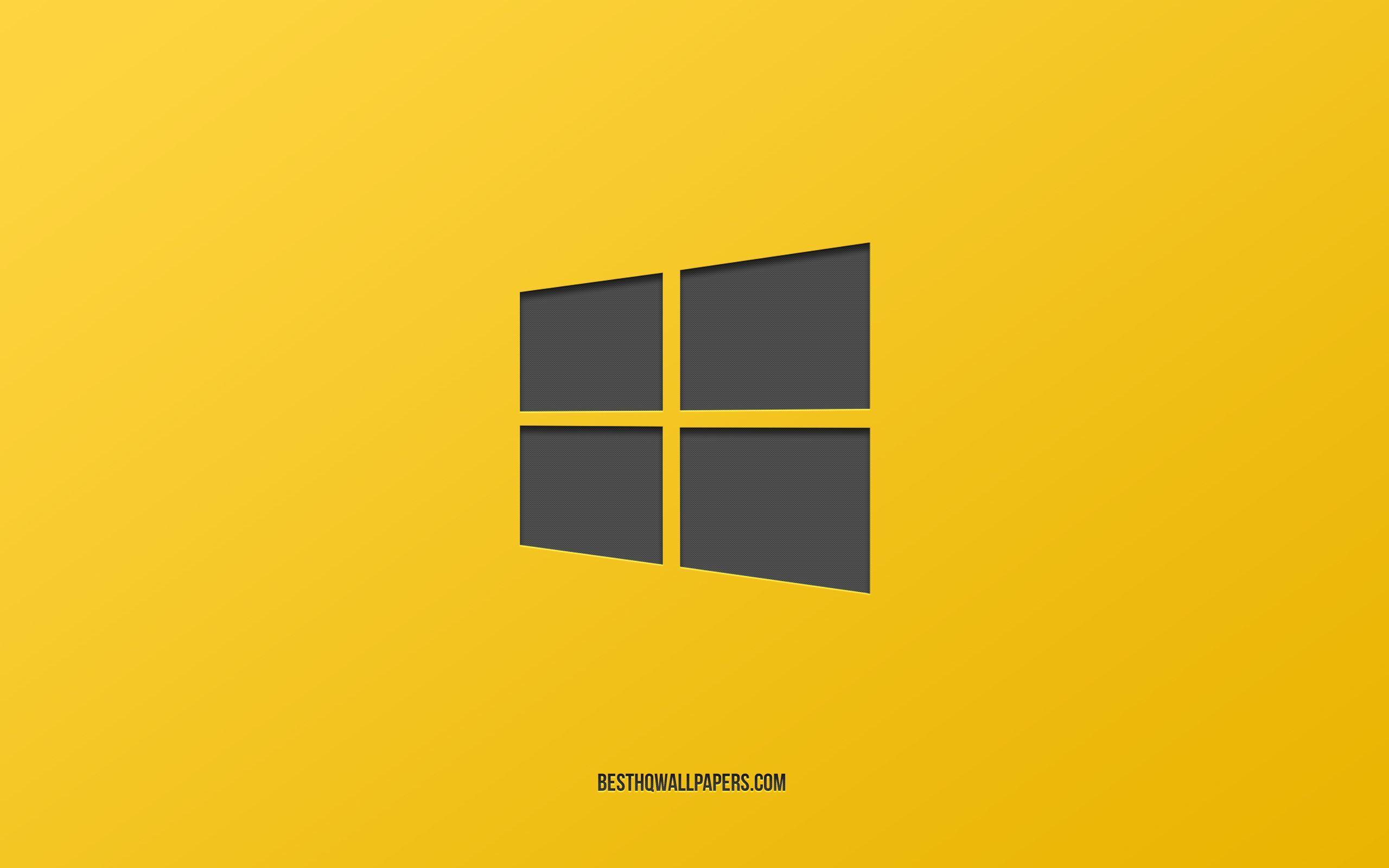 Windows 10 Yellow Wallpaper Hd