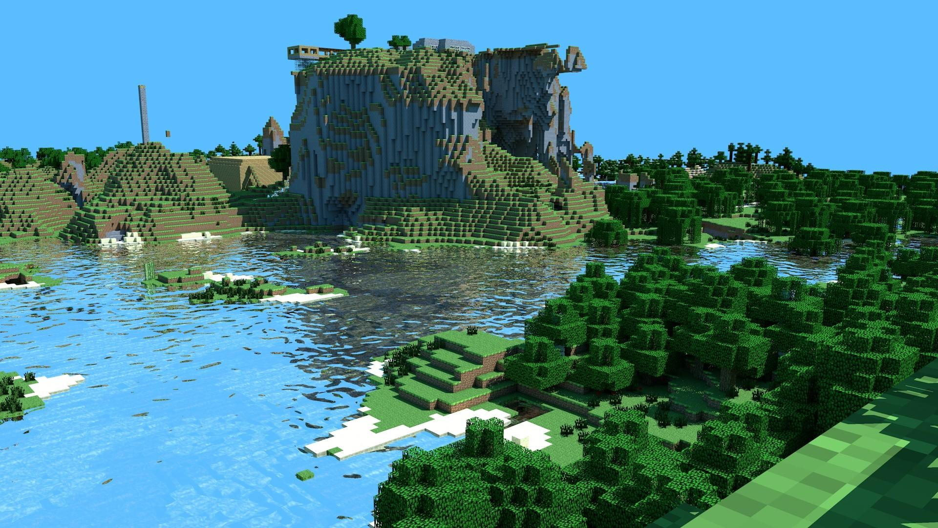Minecraft Landscape Wallpapers Top Free Minecraft