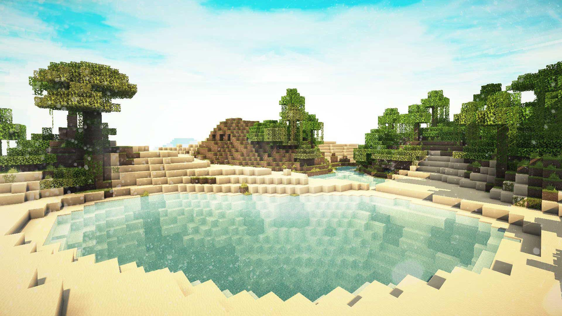 1920x1080 Landscape Minecraft Shaders Wallpaper And Background