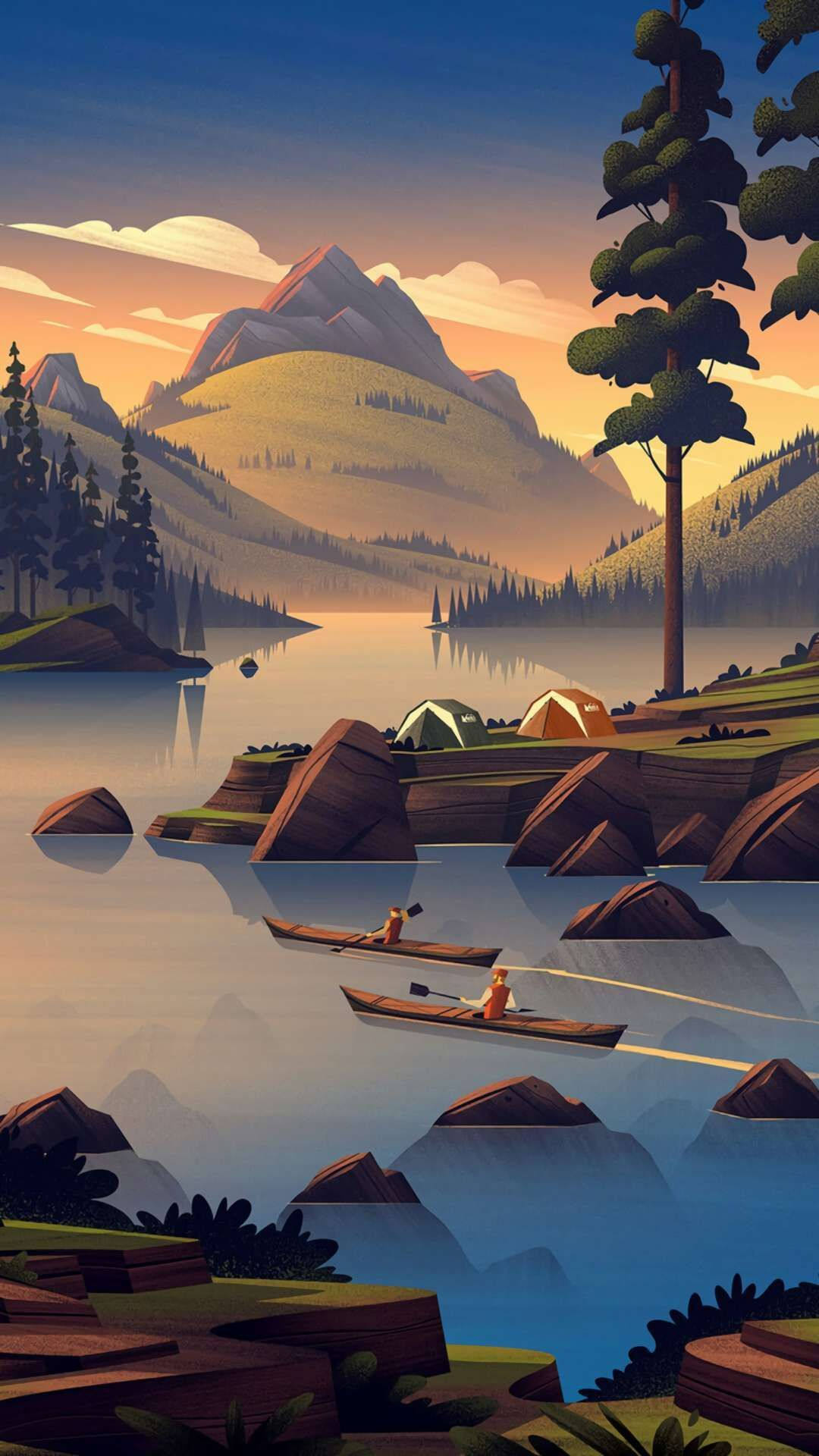 Iphone Camping Wallpapers Top Free Iphone Camping Backgrounds Wallpaperaccess