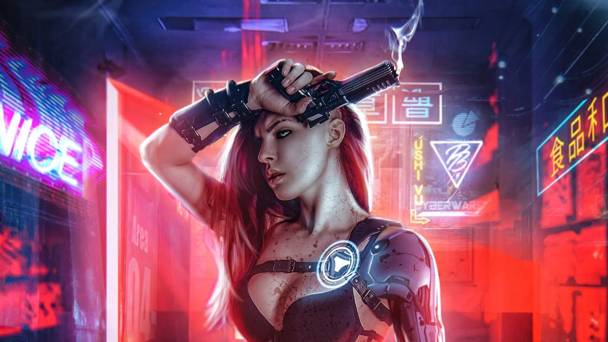 Cyberpunk Girl Wallpapers - Top Free Cyberpunk Girl ...