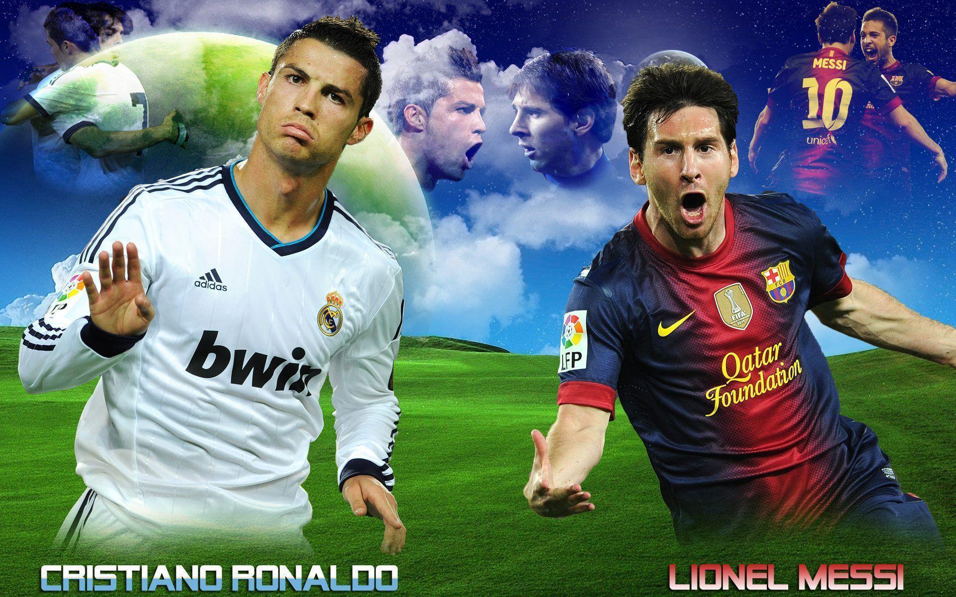 Messi Vs Ronaldo Wallpapers Top Free Messi Vs Ronaldo