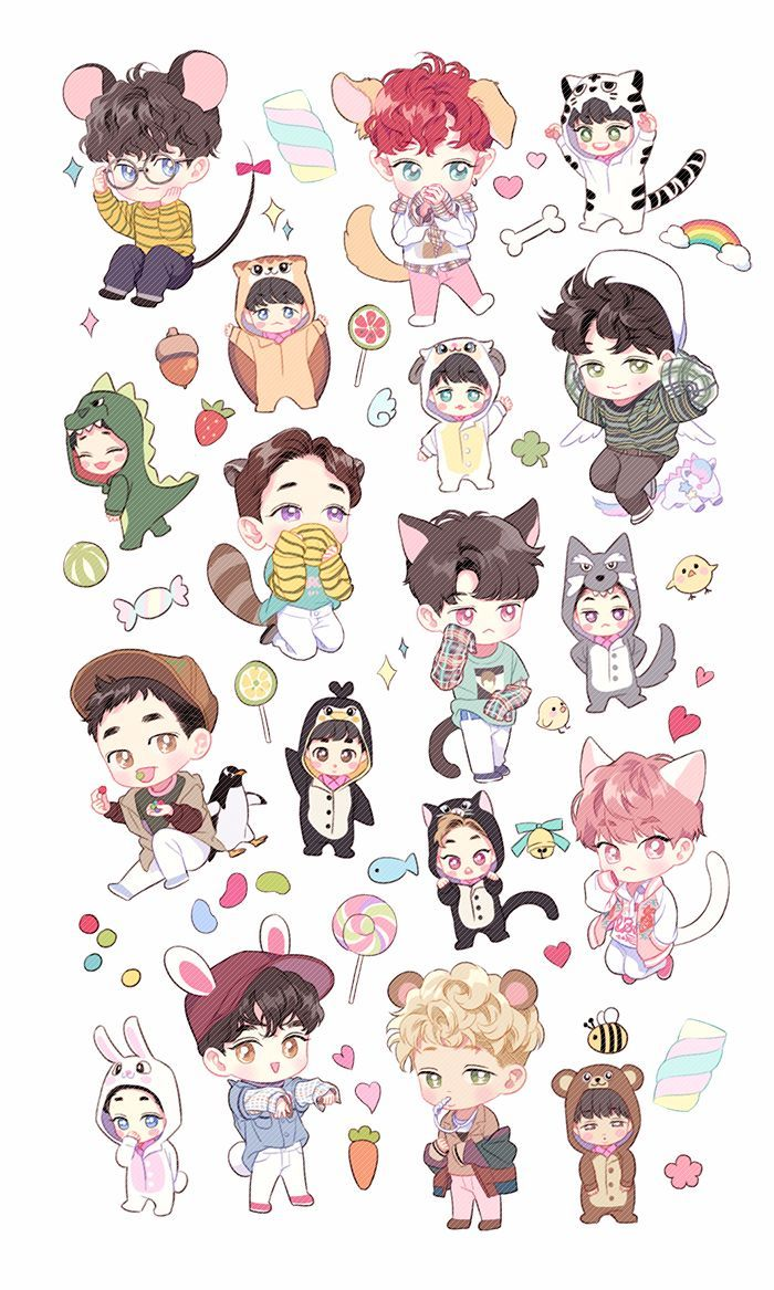 Exo Chibi Wallpapers Top Free Exo Chibi Backgrounds Wallpaperaccess