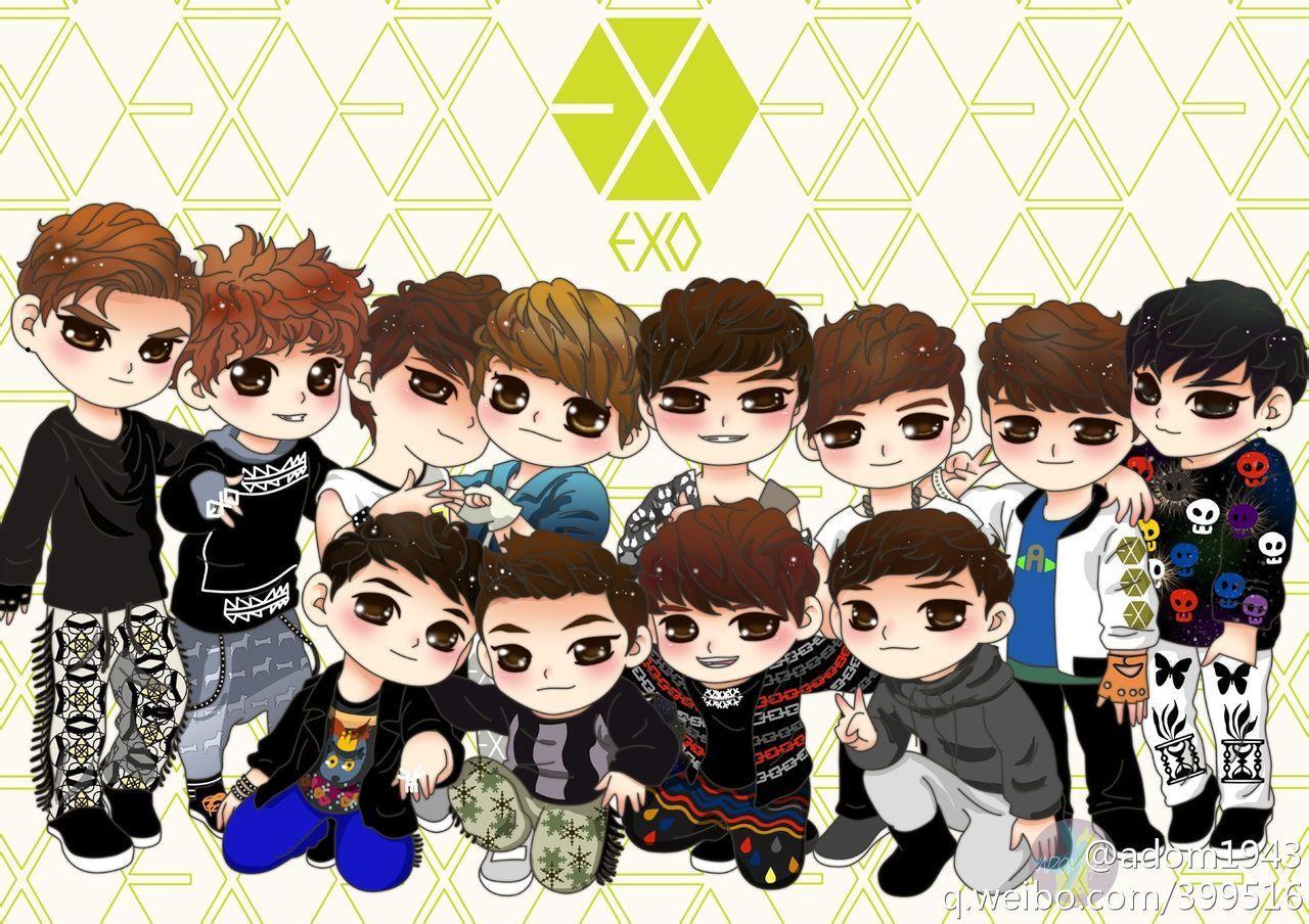 Exo Chibi Wallpapers Top Free Exo Chibi Backgrounds Wallpaperaccess