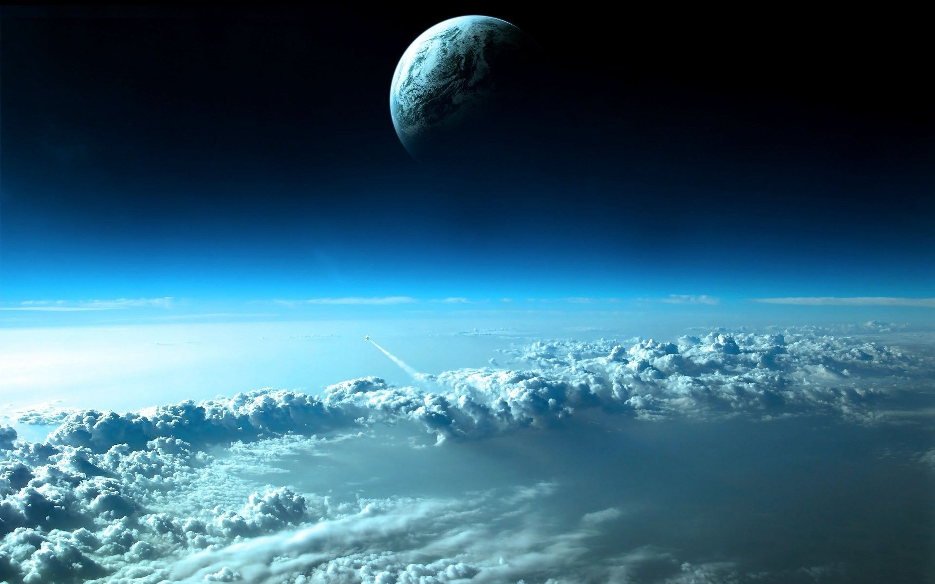 1920x1200 الغيوم خلفية الكواكب الفضاء الخارجي الأرض [1920x1200]