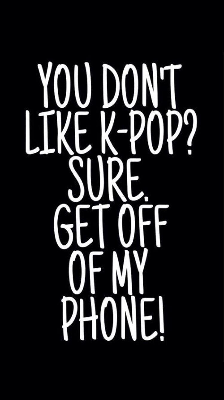 get off my phone wallpaper black
