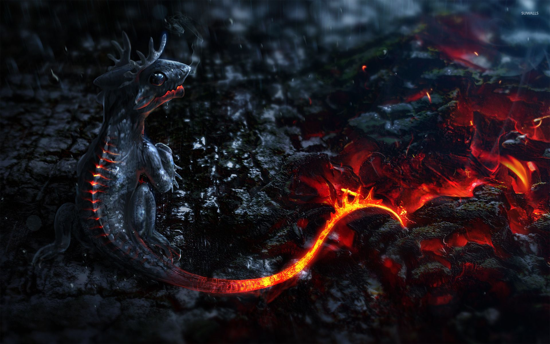 Lava Dragon Wallpapers Top Free Lava Dragon Backgrounds