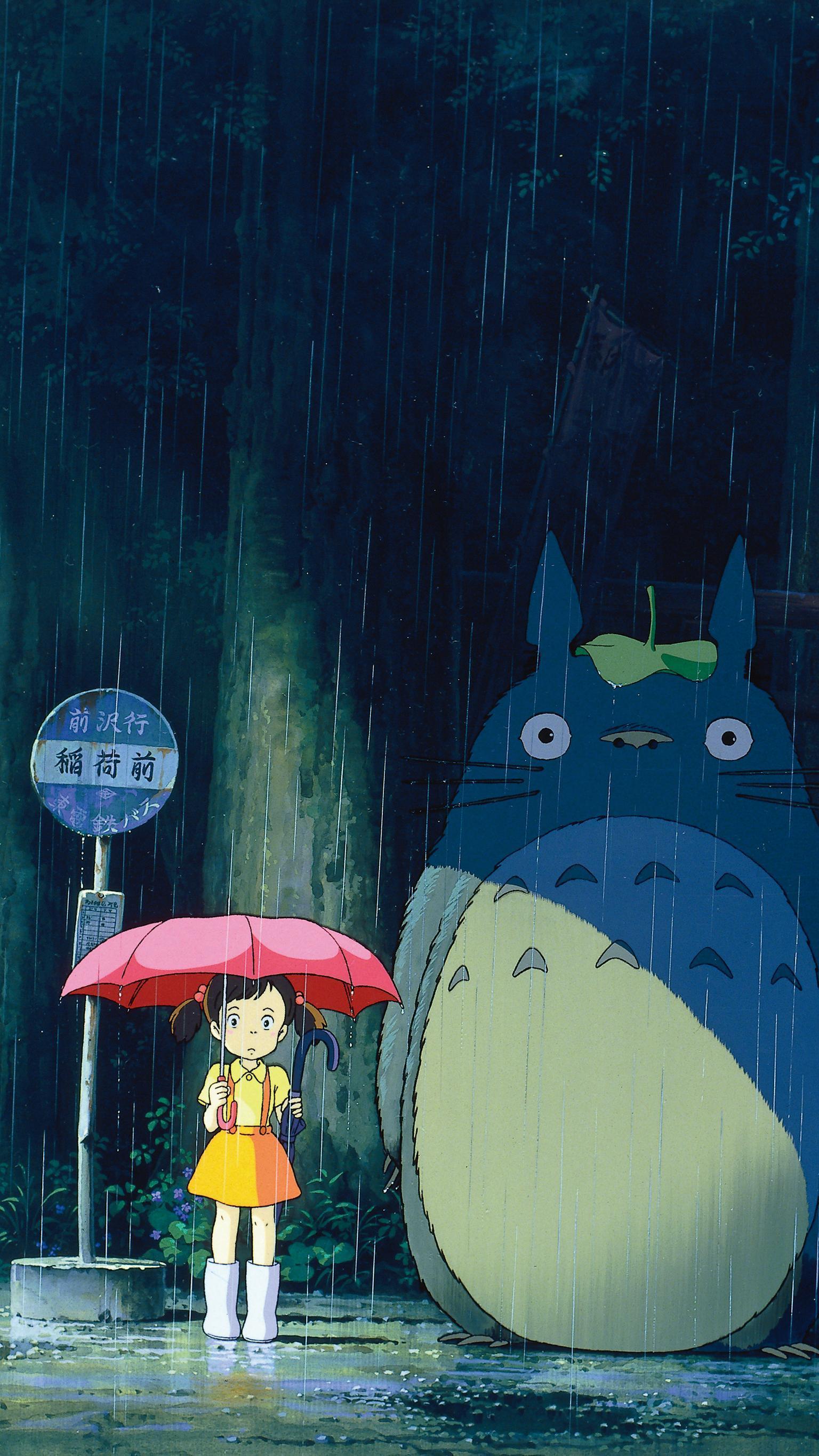 Totoro Phone Wallpapers Top Free Totoro Phone Backgrounds Wallpaperaccess