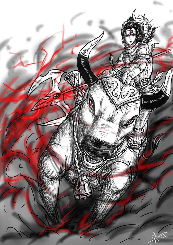 1024x1448 Angry Lord Shiva hình nền