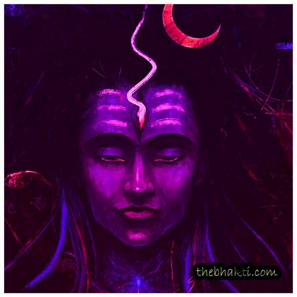 1024x1024 Angry Lord Shiva hình nền