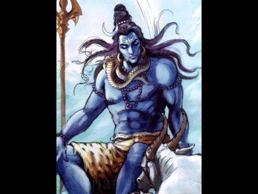 1024x768 Hình ảnh nổi giận của Chúa Shiva Độ phân giải cao
