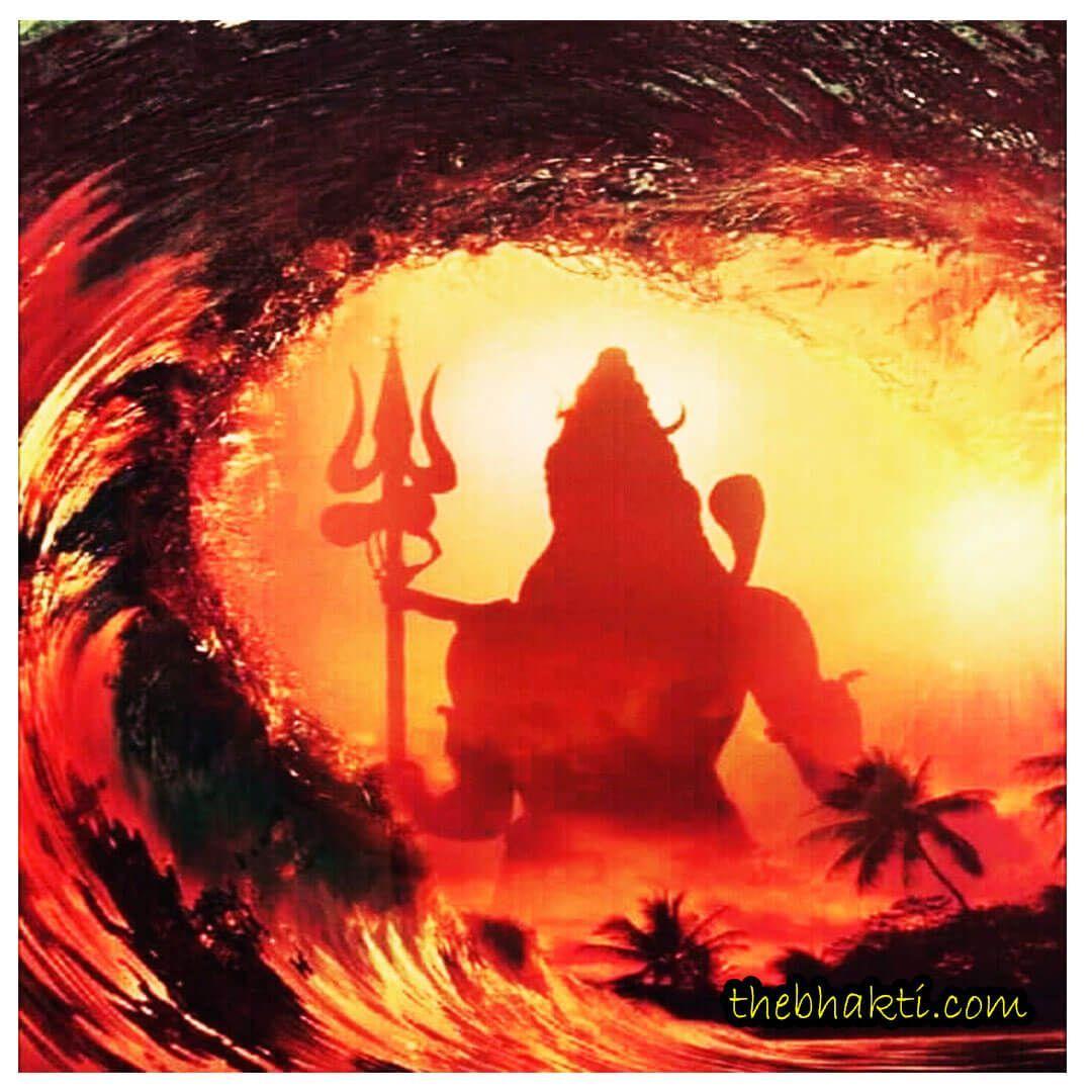 1080x1080 Angry Lord Shiva hình nền