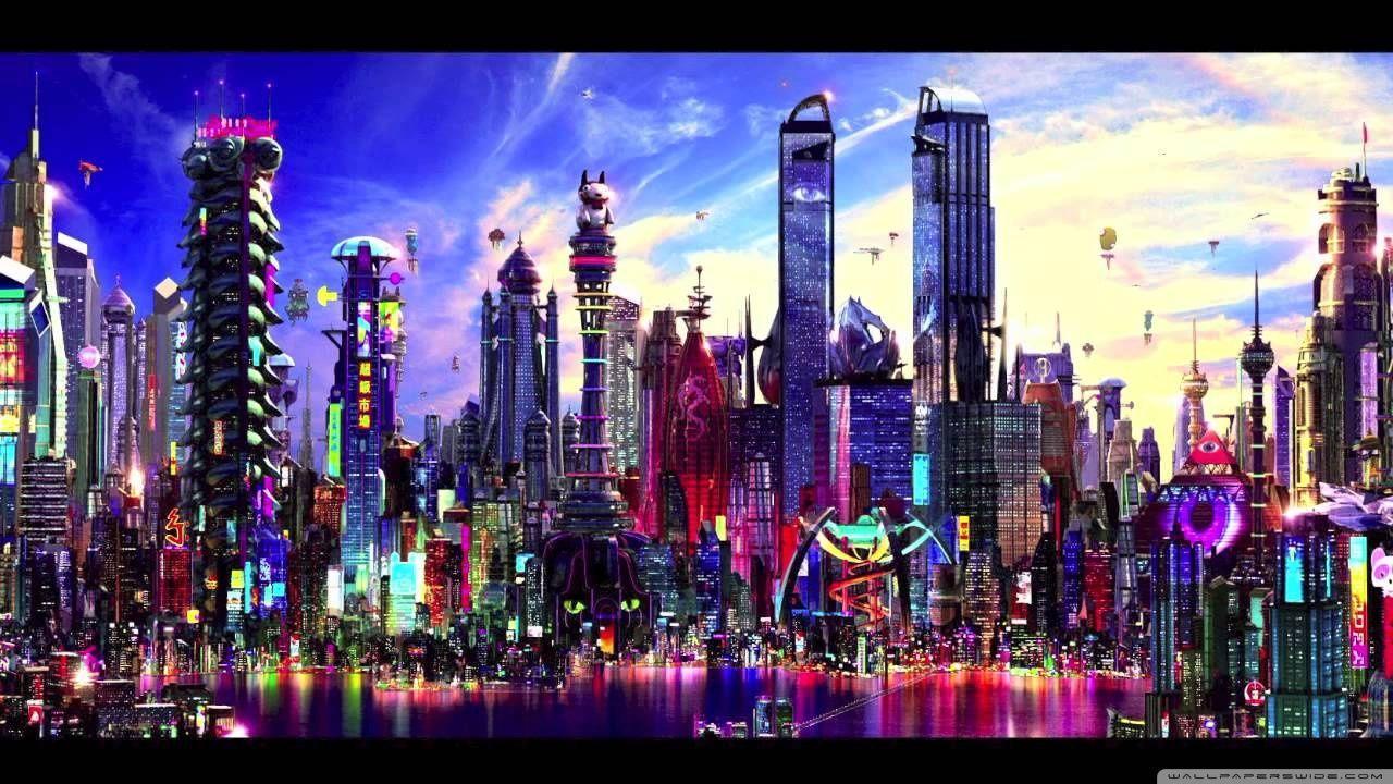 Fantasy Scenery 4k Hd Desktop Wallpaper For 4k Ultra Hd Tv: Futuristic City Wallpapers