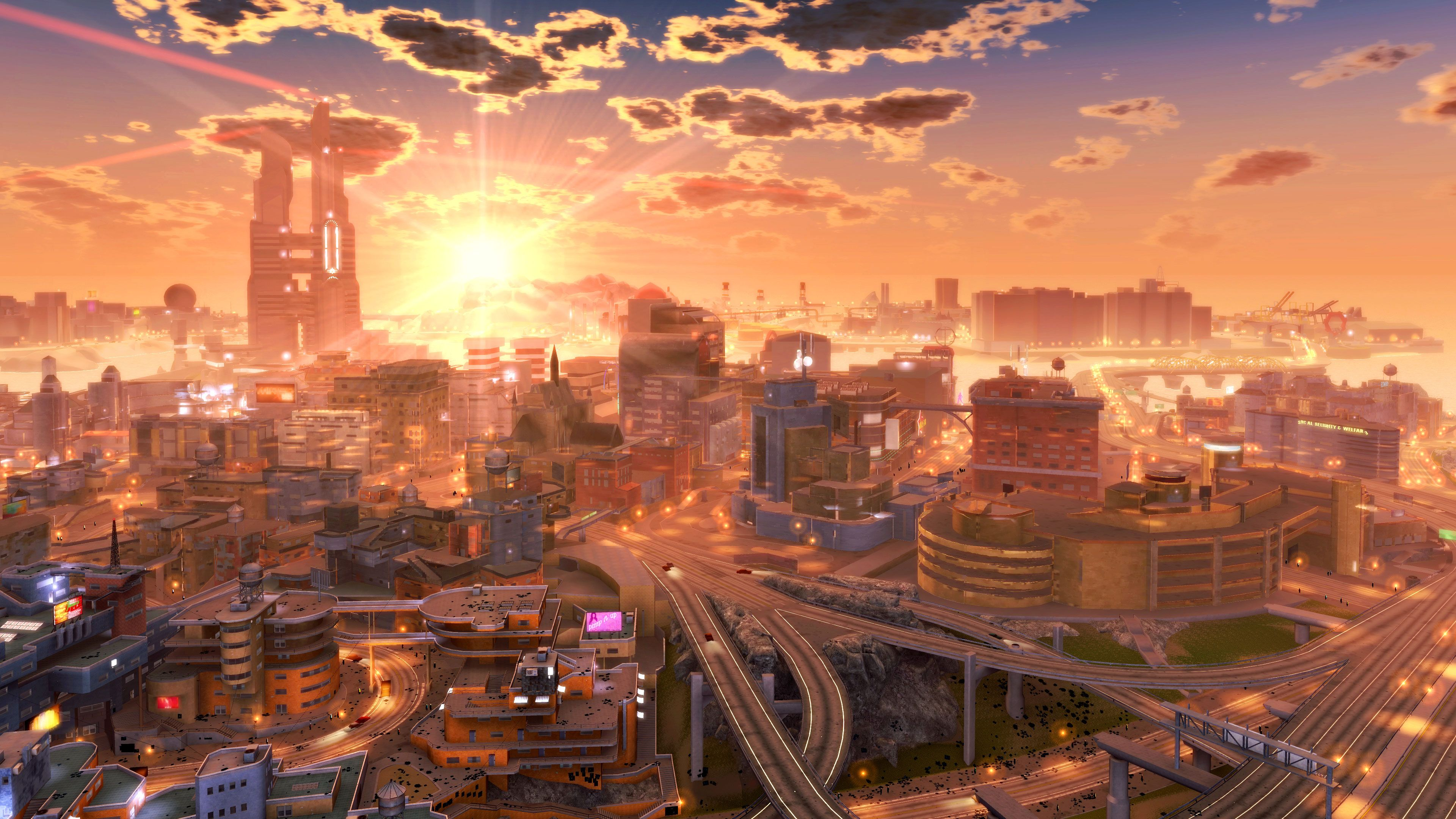 1680x1050 Anime City Artwork Futuristic HD Wallpaper