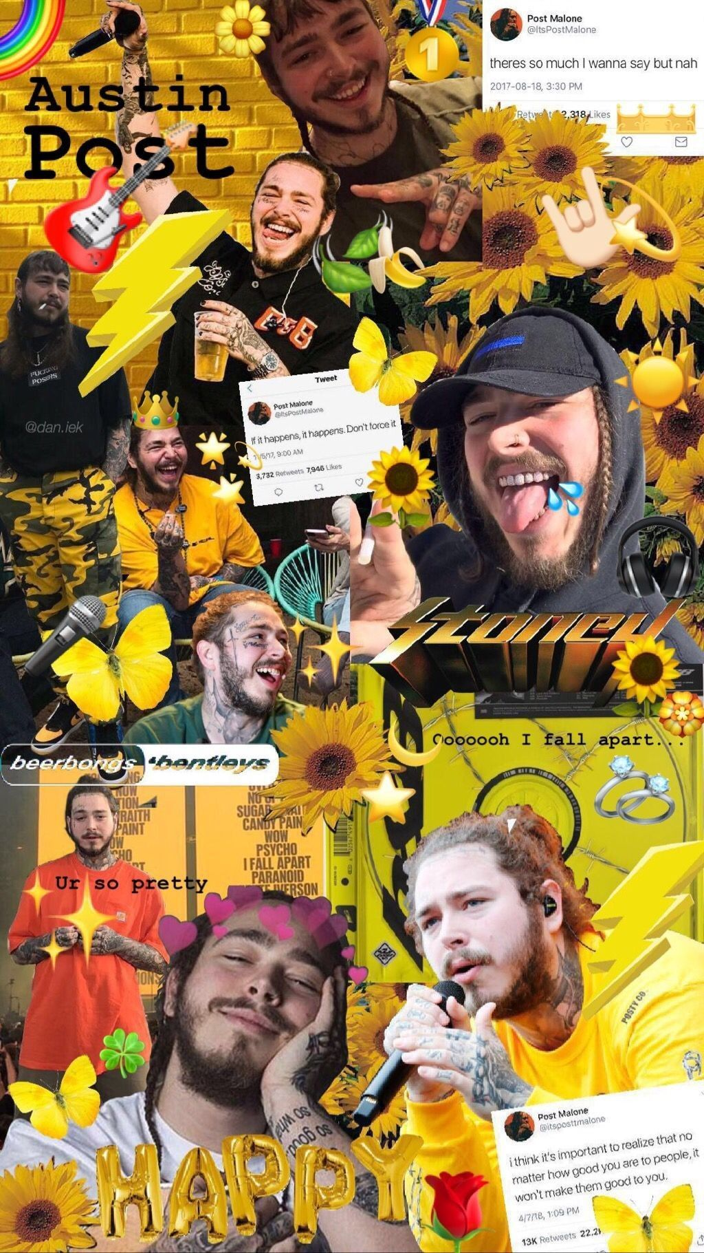 Post Malone Aesthetic Wallpapers Top Free Post Malone Aesthetic Backgrounds Wallpaperaccess