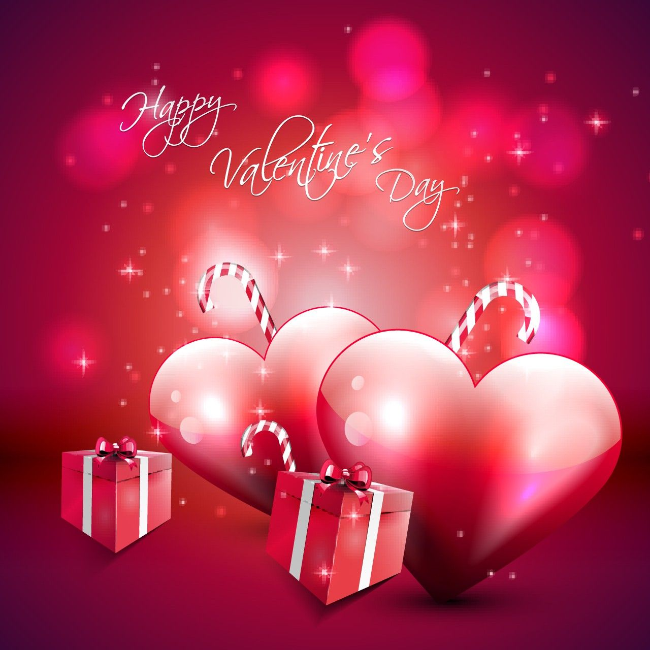 1280x1280 Happy Valentines Day Gifts Wallpaper