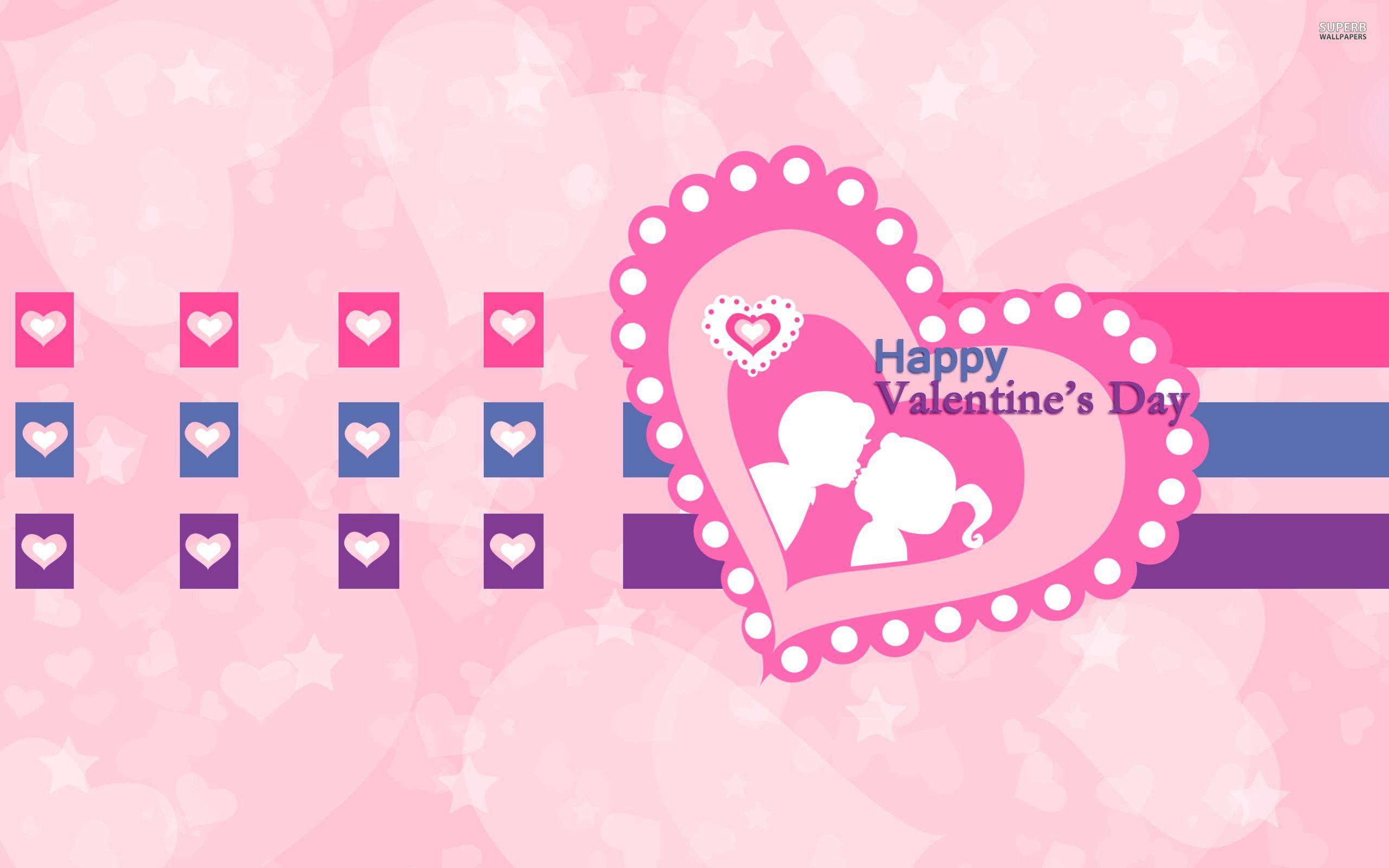 2560x1600 Cute Happy Valentine Day Wallpaper