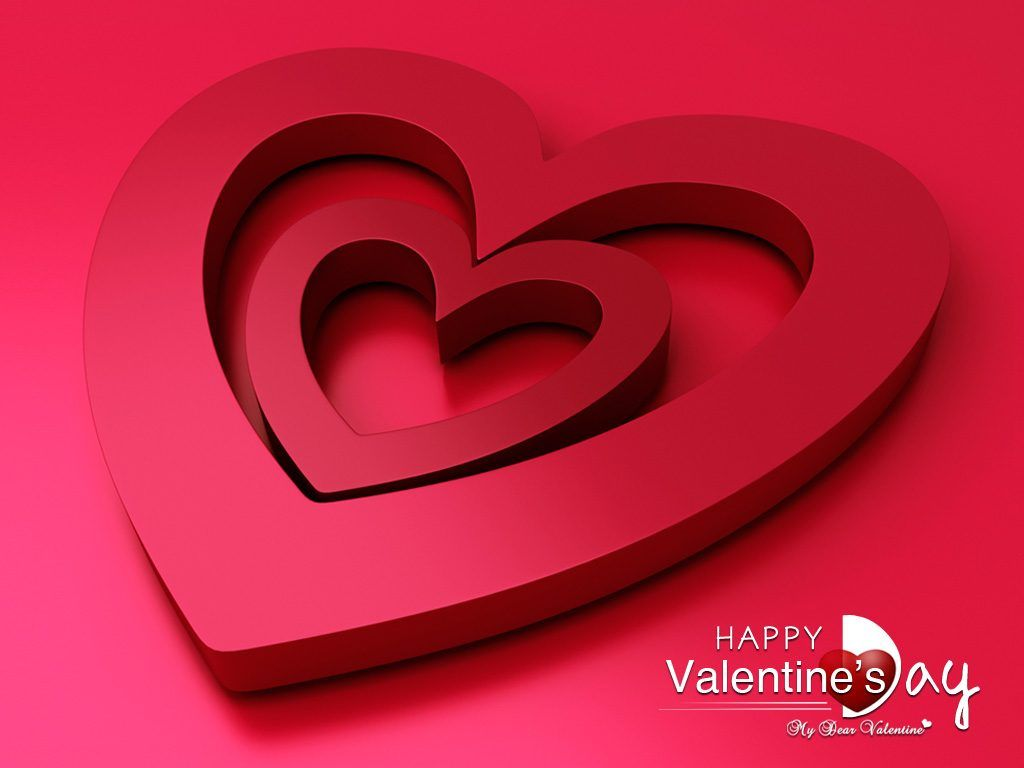 1024x768 Cute Happy Valentines Day Background – Quotes & Wishes