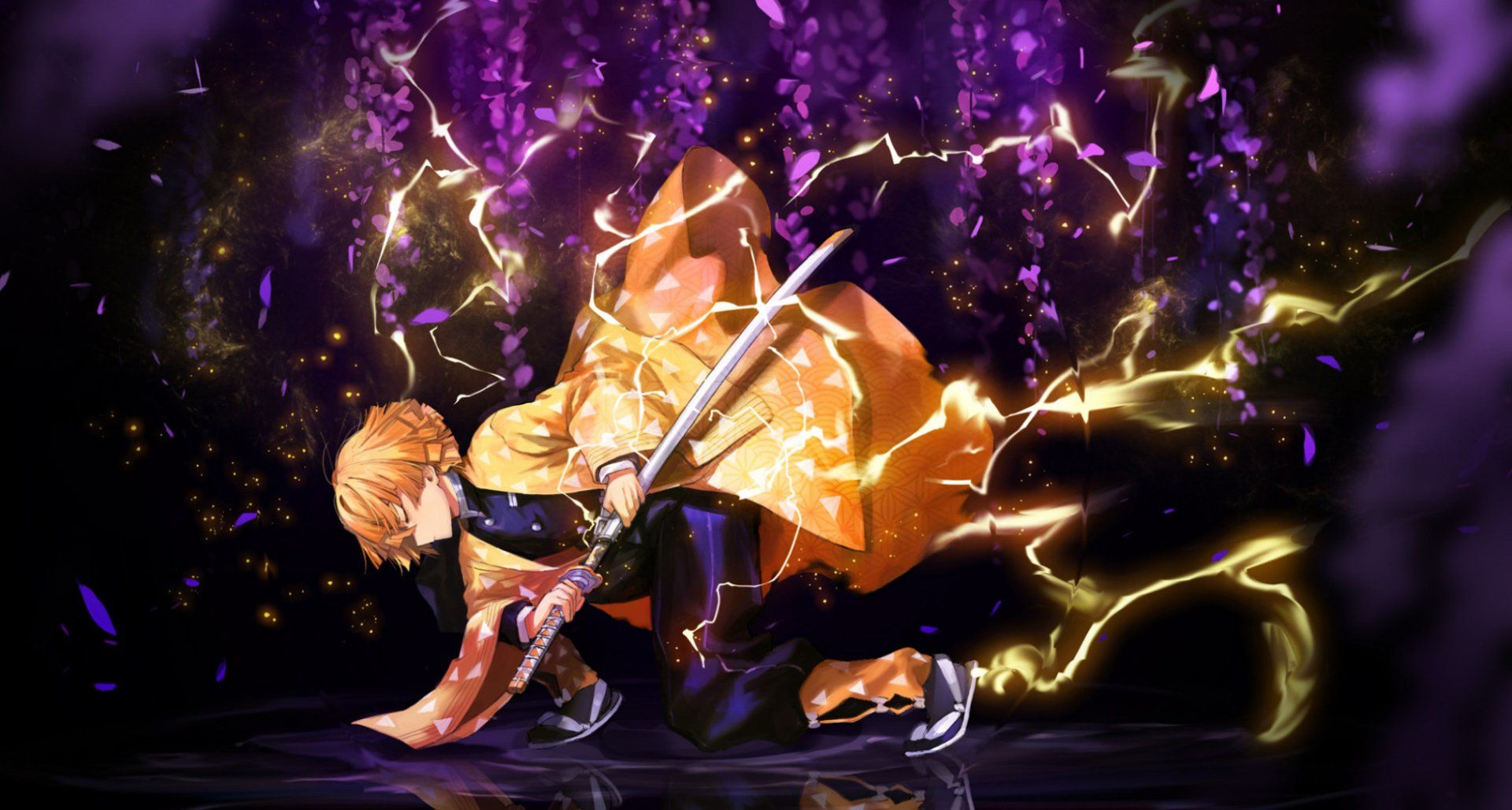 Demon Slayer Zenitsu 4K Wallpapers - Top Free Demon Slayer ...