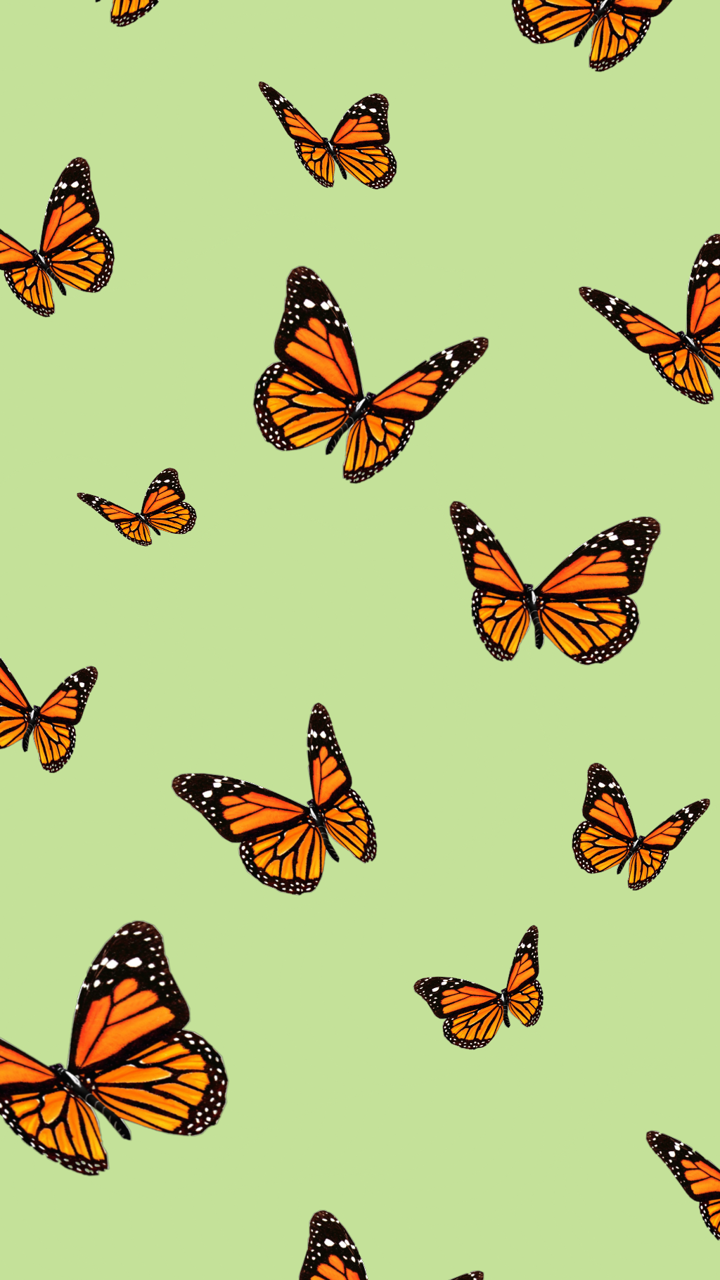 Orange Butterfly Wallpaper Vsco Hd Football