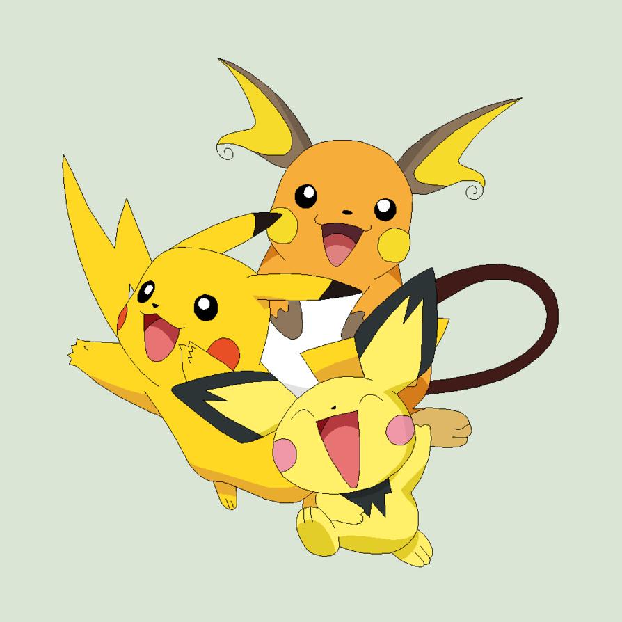 Pichu Pikachu Raichu Wallpapers - Top Free Pichu Pikachu ...Pichu Pikachu Raichu