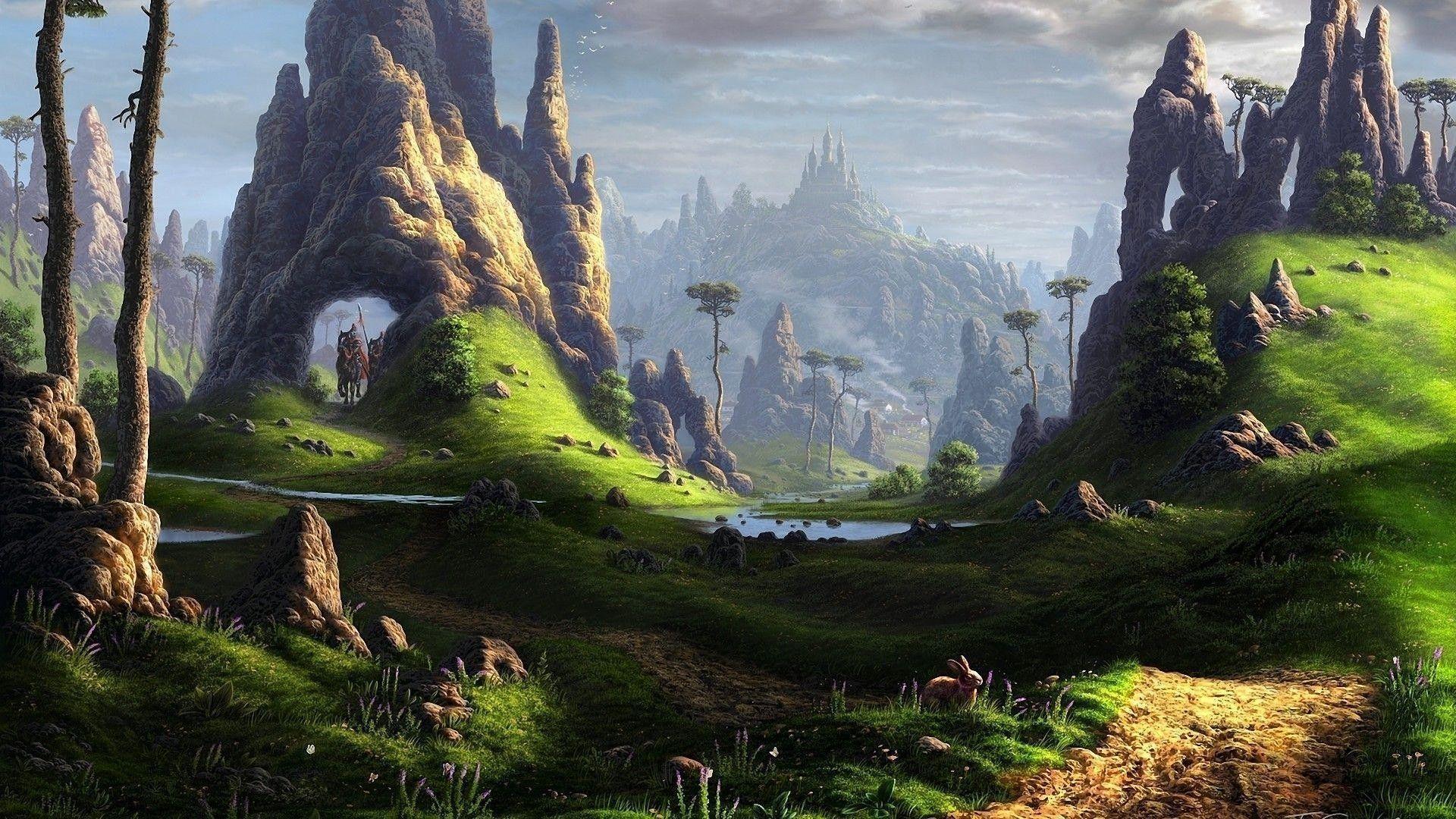 Fantasy Landscape Wallpapers Top Free Fantasy Landscape Backgrounds Wallpaperaccess