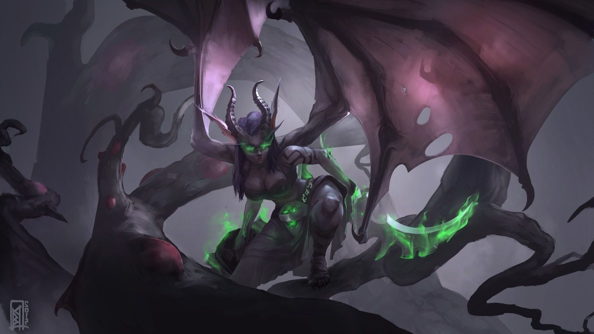 Demon Hunter Wallpapers Top Free Demon Hunter Backgrounds Wallpaperaccess