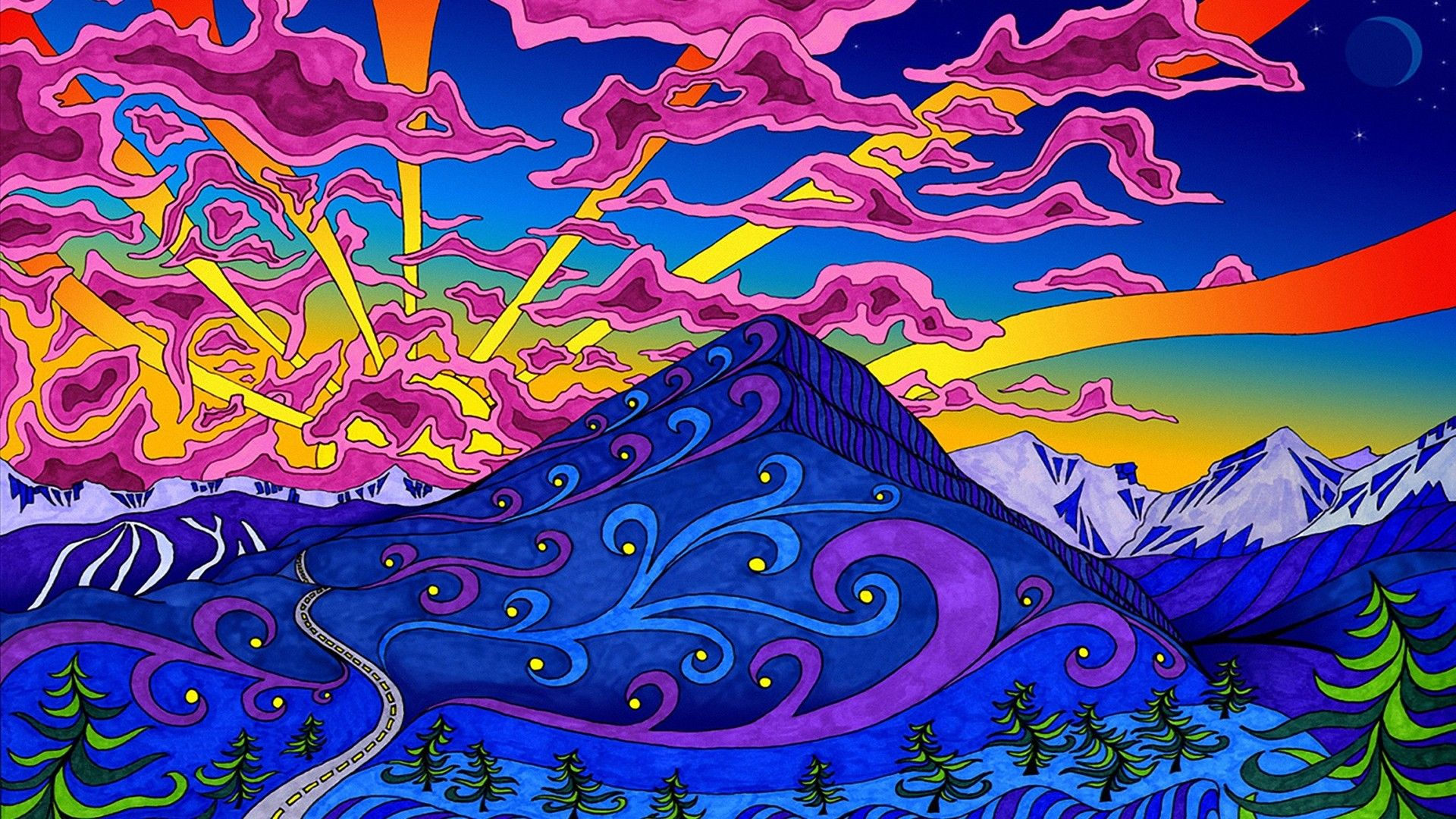 Trippy Laptop Wallpapers Top Free Trippy Laptop Backgrounds Wallpaperaccess