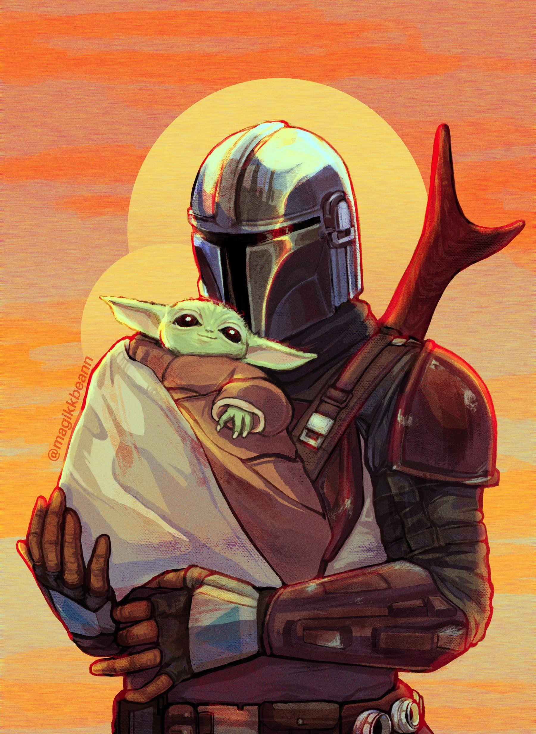 Mandalorian And Baby Yoda Wallpapers ...