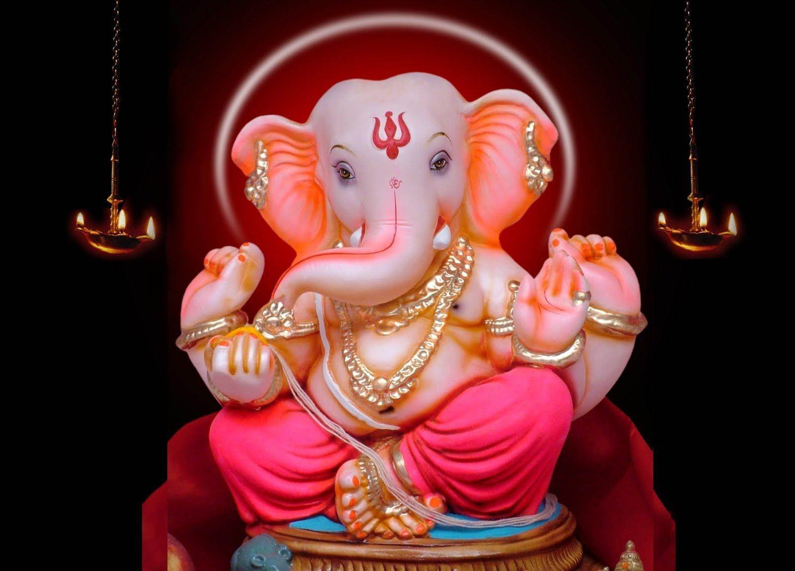 Hình nền HD 1600x1149 Ganpati Bappa Morya Backgrond