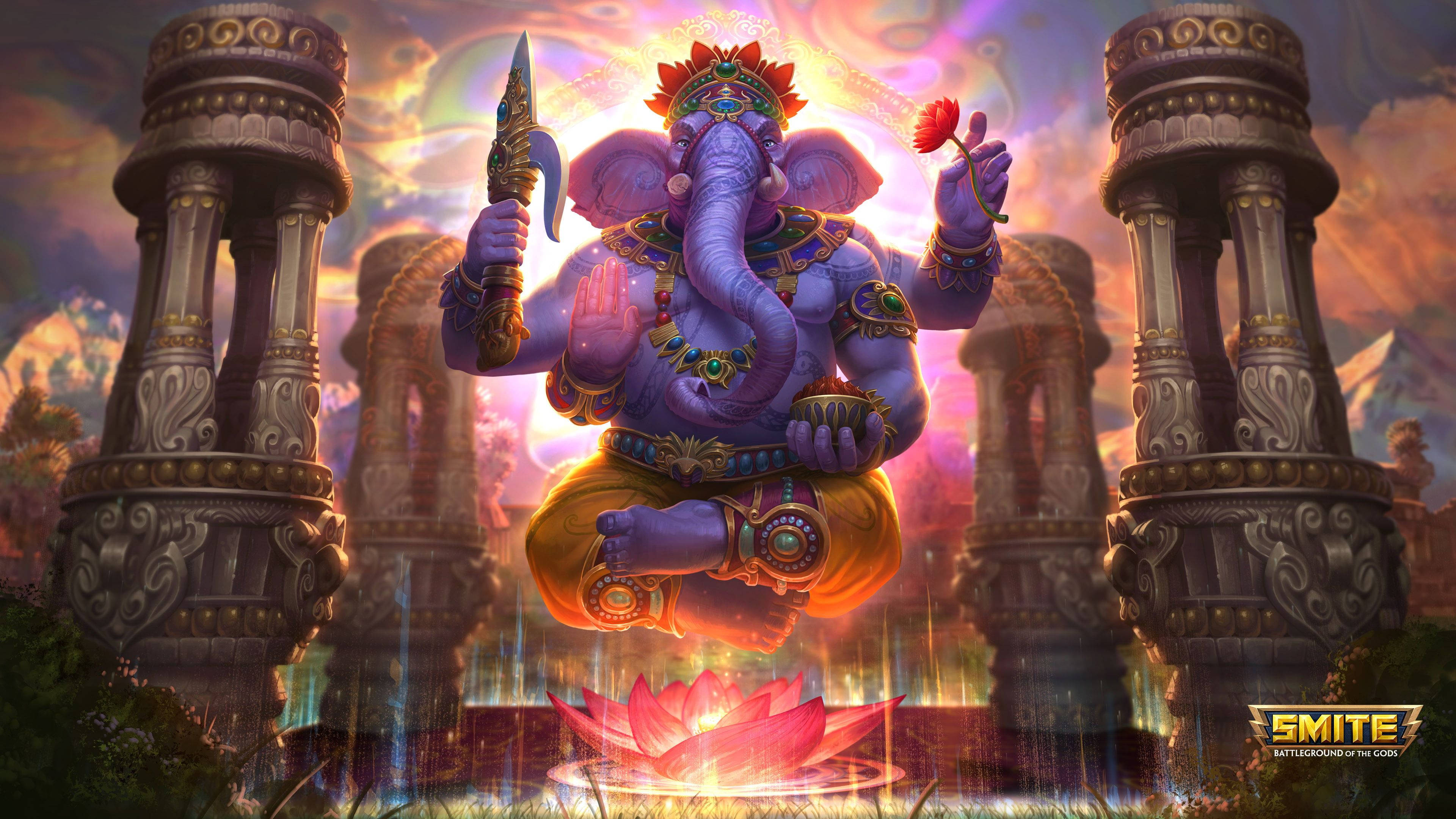 Hình nền 3840x2160 Ganesha, Chúa Ganesha, Ganpati Bappa, Ganapati HD